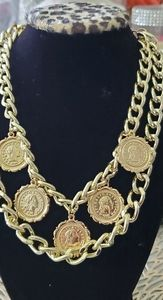 Jewelry - New vintage gold tone coin chain necklace